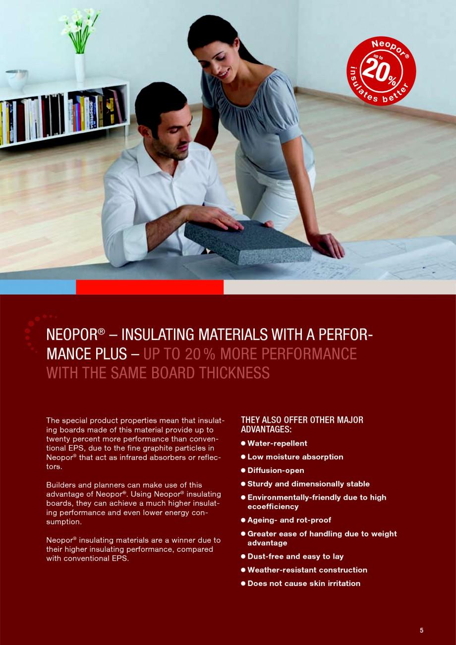 Pagina 5 - Polistiren expandat - Building and modernising with NEOPOR BASF Neopor Catalog, brosura...