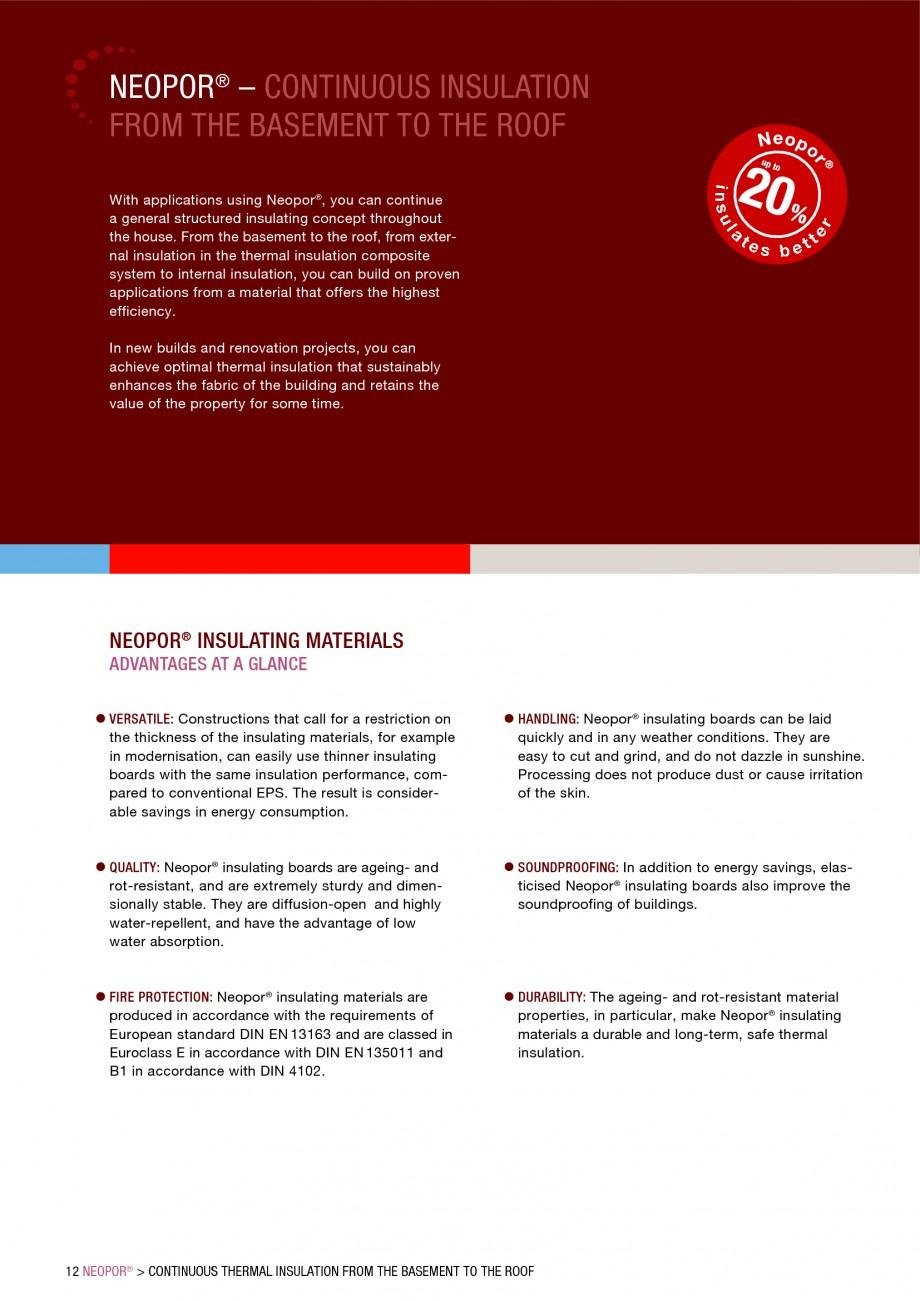 Pagina 12 - Polistiren expandat - Building and modernising with NEOPOR BASF Neopor Catalog, brosura ...