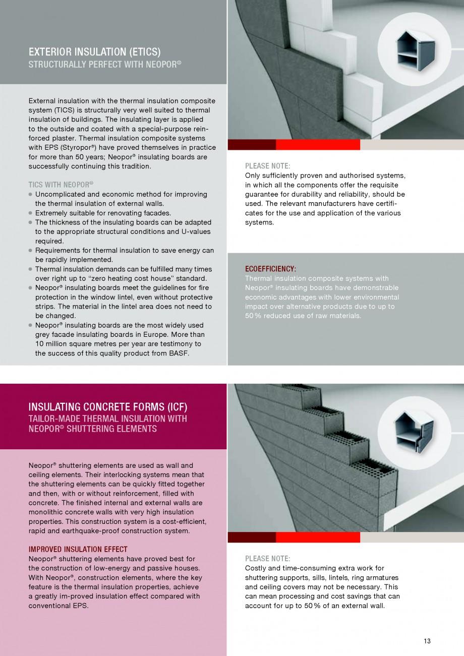 Pagina 13 - Polistiren expandat - Building and modernising with NEOPOR BASF Catalog, brosura Engleza...