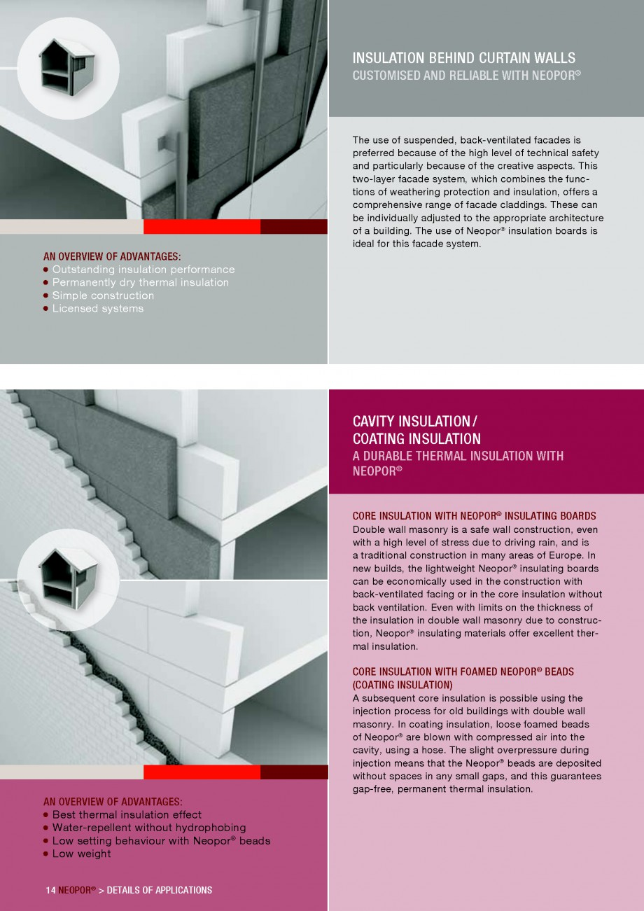 Pagina 14 - Polistiren expandat - Building and modernising with NEOPOR BASF Catalog, brosura Engleza...