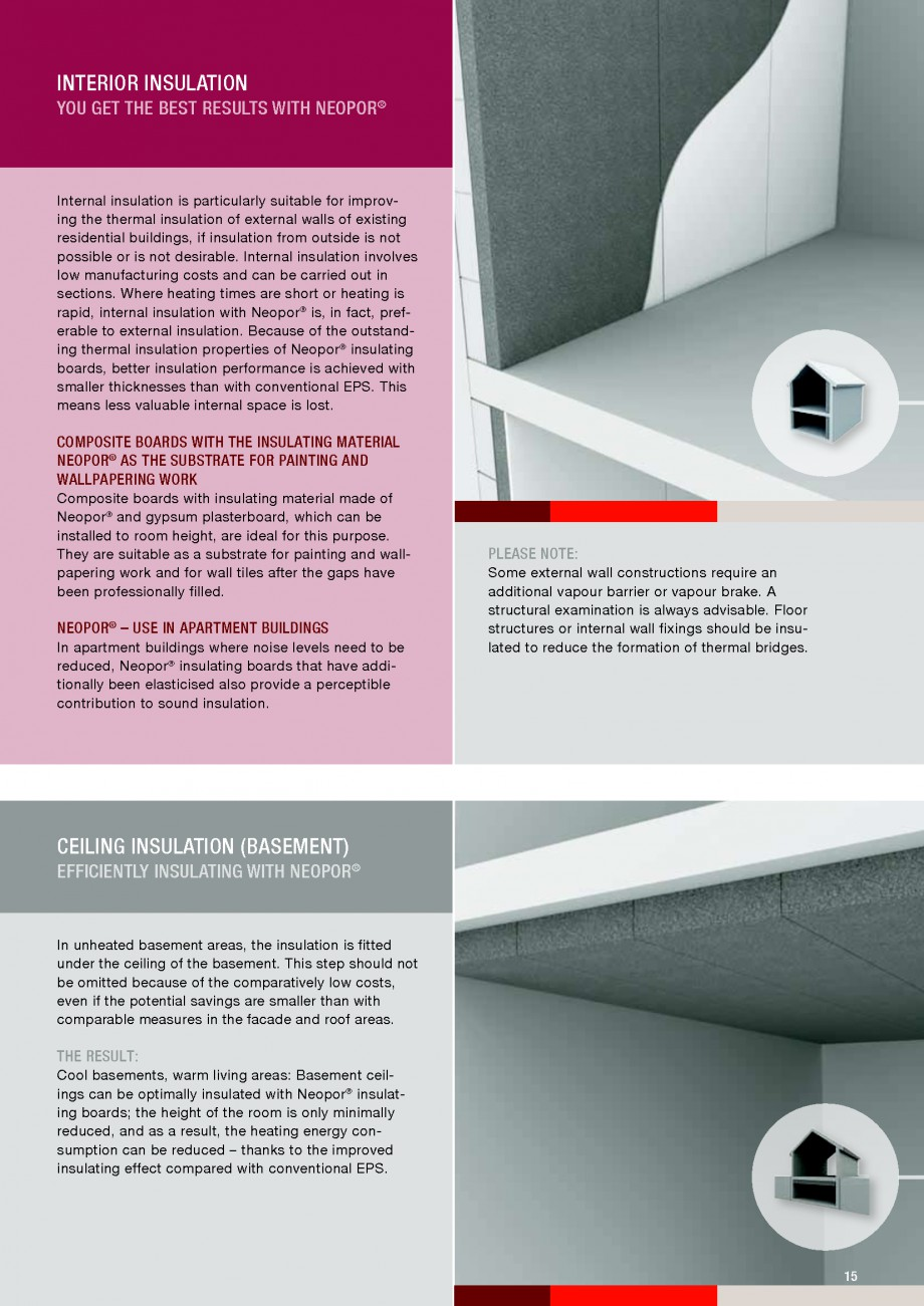 Pagina 15 - Polistiren expandat - Building and modernising with NEOPOR BASF Neopor Catalog, brosura ...
