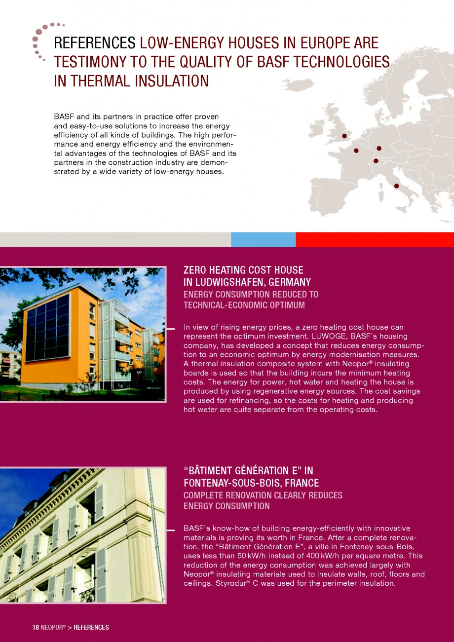 Pagina 18 - Polistiren expandat - Building and modernising with NEOPOR BASF Catalog, brosura Engleza...