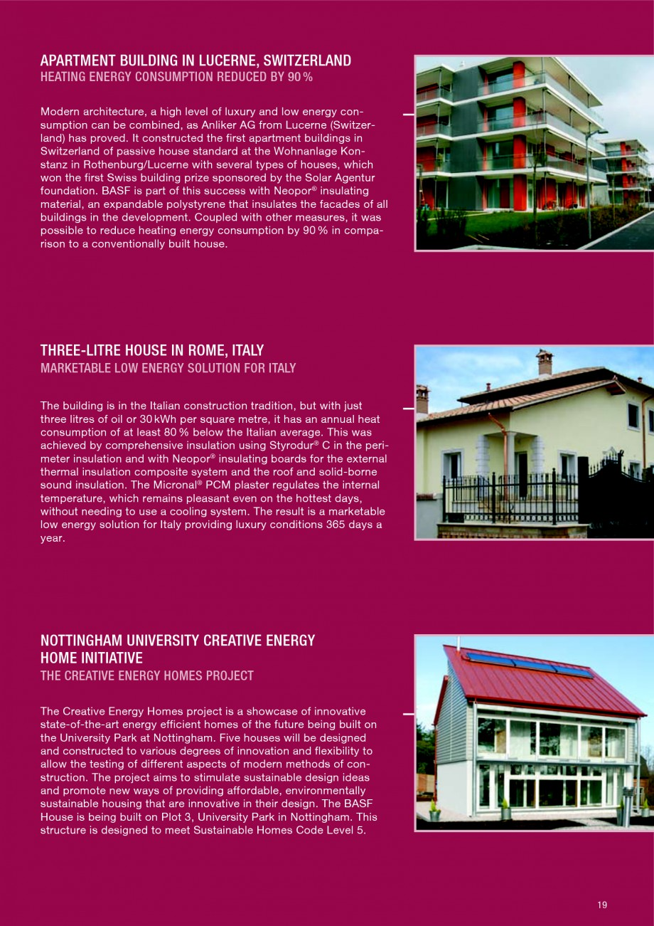 Pagina 19 - Polistiren expandat - Building and modernising with NEOPOR BASF Catalog, brosura Engleza...