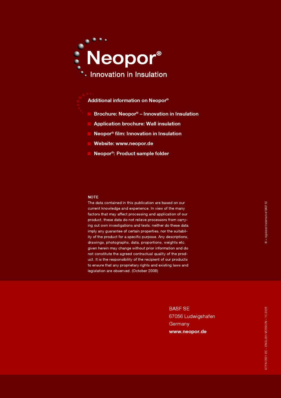 Pagina 20 - Polistiren expandat - Building and modernising with NEOPOR BASF Catalog, brosura Engleza...