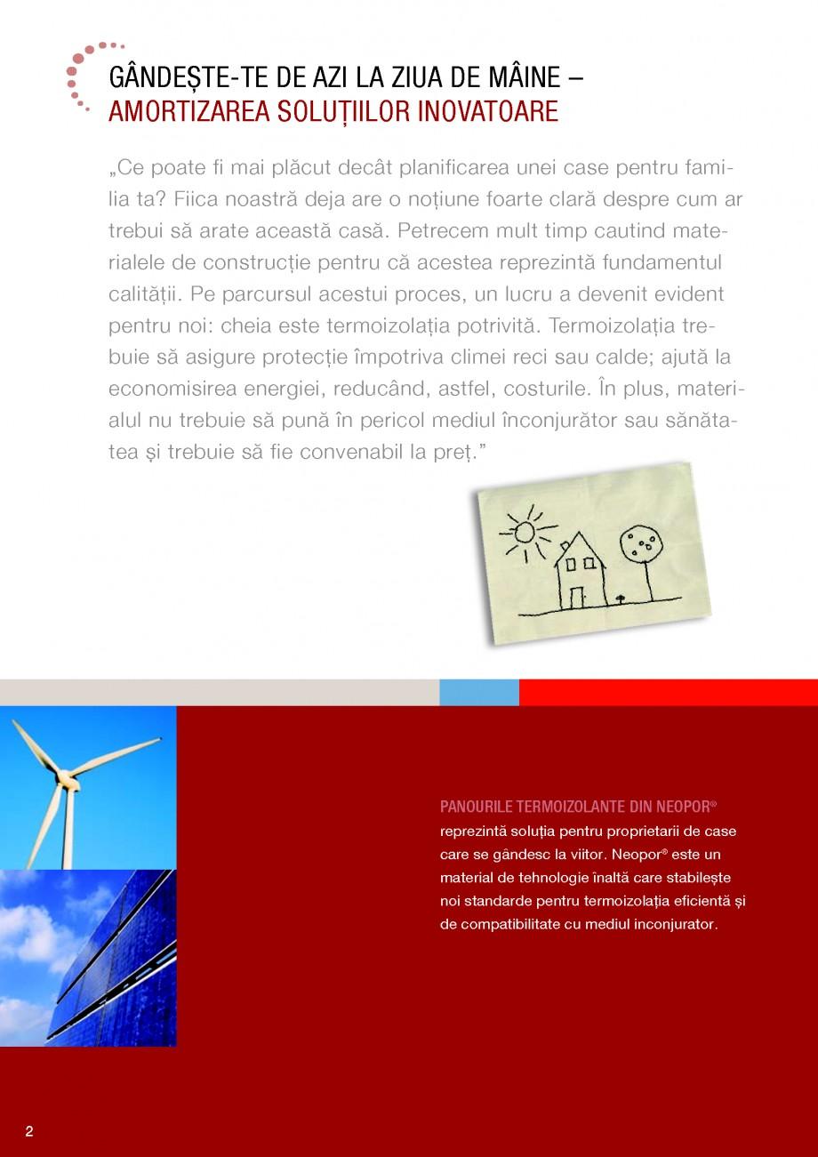 Pagina 2 - Polistiren expandat BASF Neopor Catalog, brosura Romana  mediul inconjurator.  2  O...
