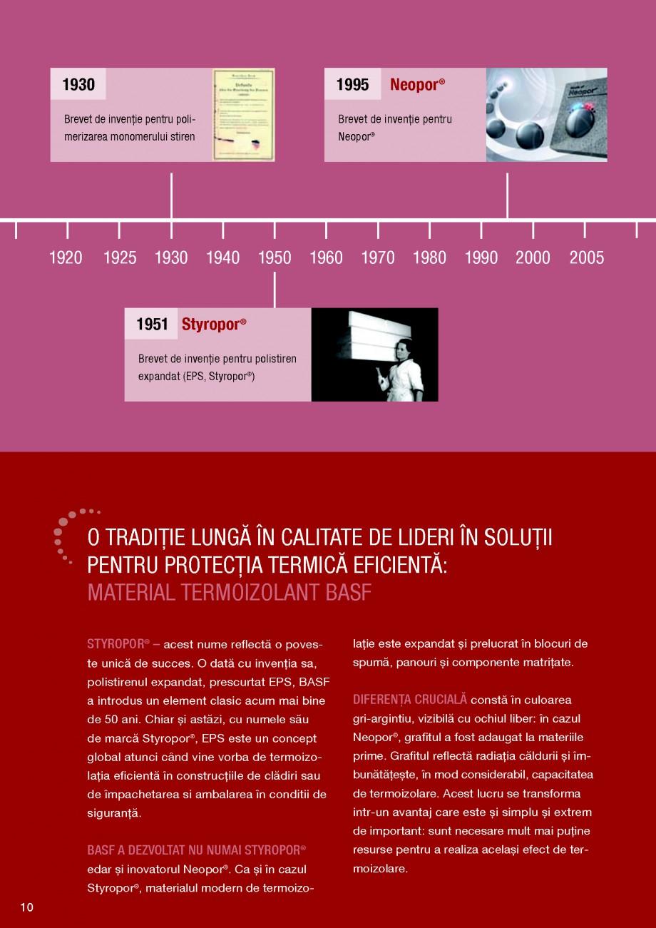 Pagina 10 - Polistiren expandat BASF Neopor Catalog, brosura Romana ALITATE DE LIDERI ÎN SOLUŢII...
