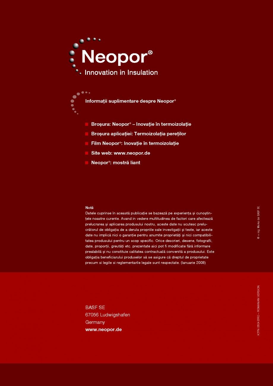 "Pagina 12 - Polistiren expandat BASF Neopor Catalog, brosura Romana �i cu ""buzunarul""...."