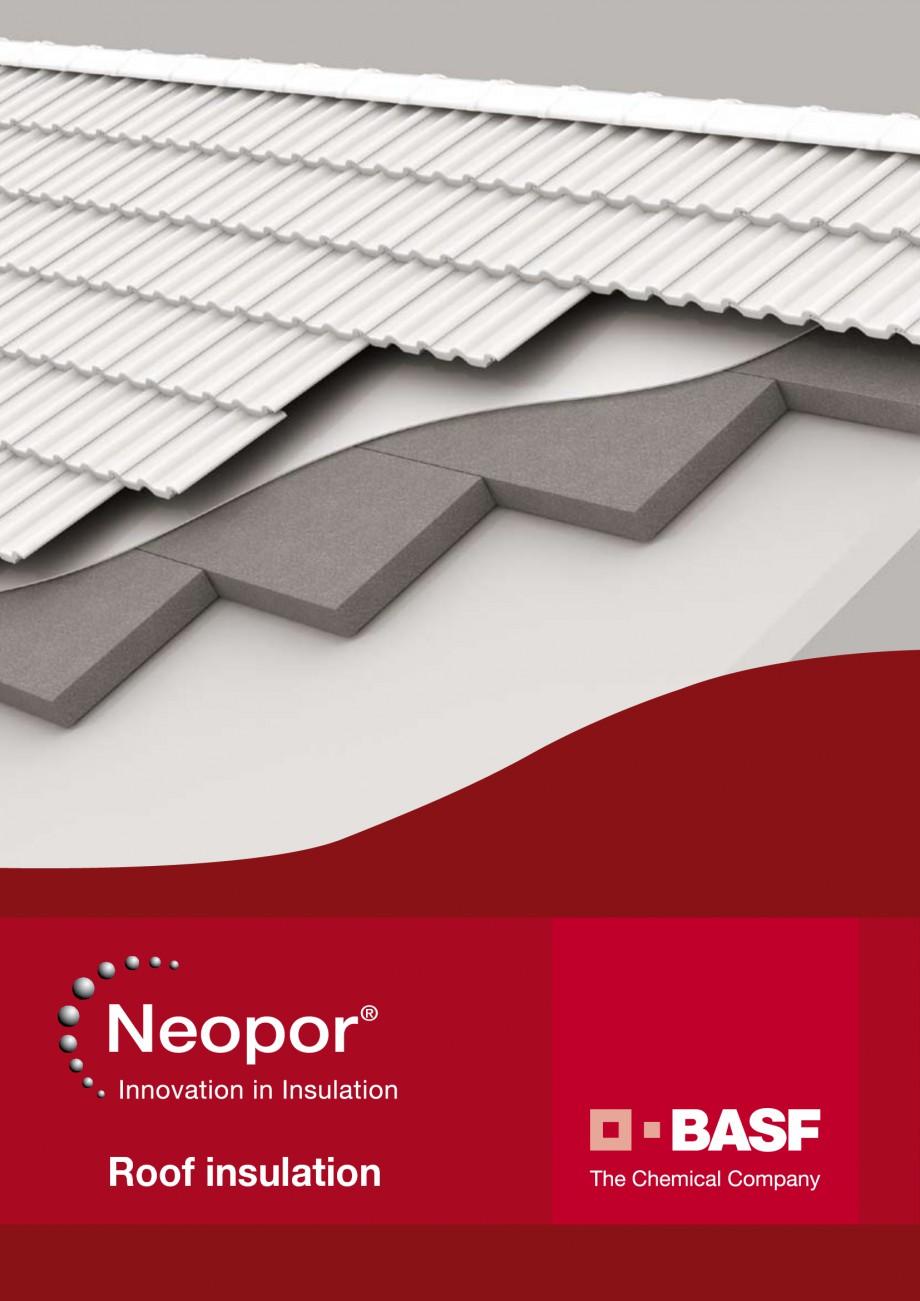 Pagina 1 - Polistiren expandat - Roof Insulation BASF Neopor Catalog, brosura Engleza Roof...
