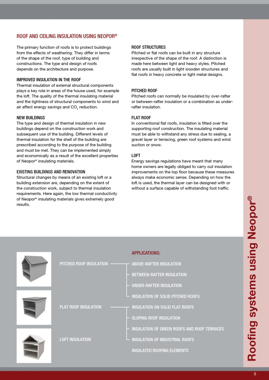 Pagina 5 - Polistiren expandat - Roof Insulation BASF Neopor Catalog, brosura Engleza irrespective...