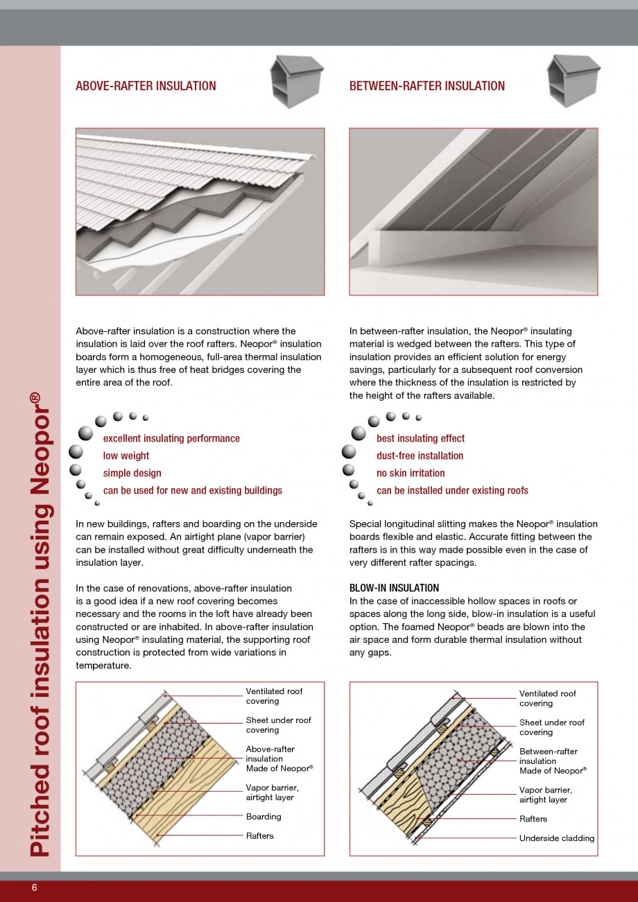 Pagina 6 - Polistiren expandat - Roof Insulation BASF Neopor Catalog, brosura Engleza of the...