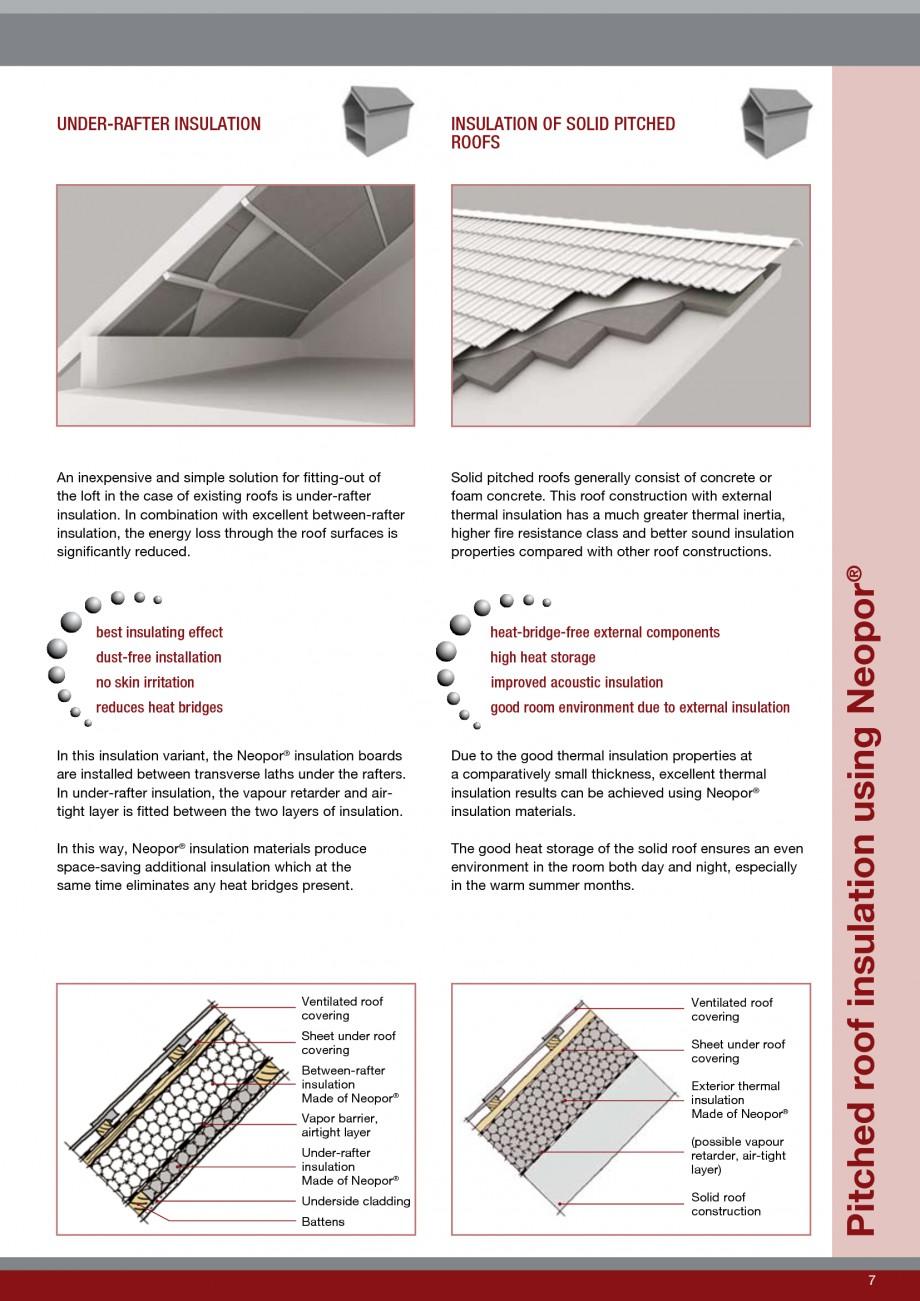 Pagina 7 - Polistiren expandat - Roof Insulation BASF Neopor Catalog, brosura Engleza sULAtIon...