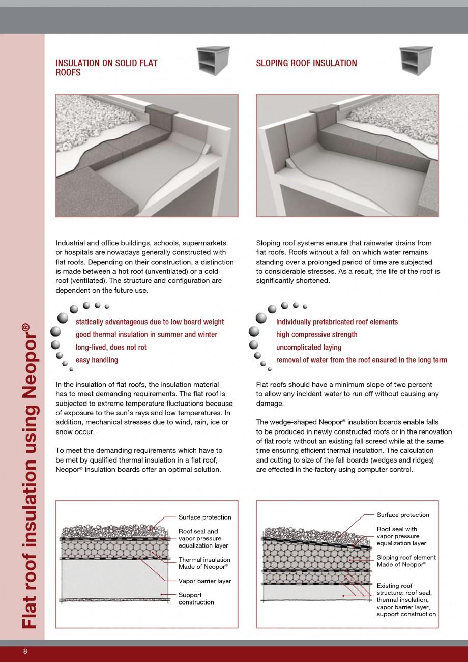 Pagina 8 - Polistiren expandat - Roof Insulation BASF Neopor Catalog, brosura Engleza mance low...