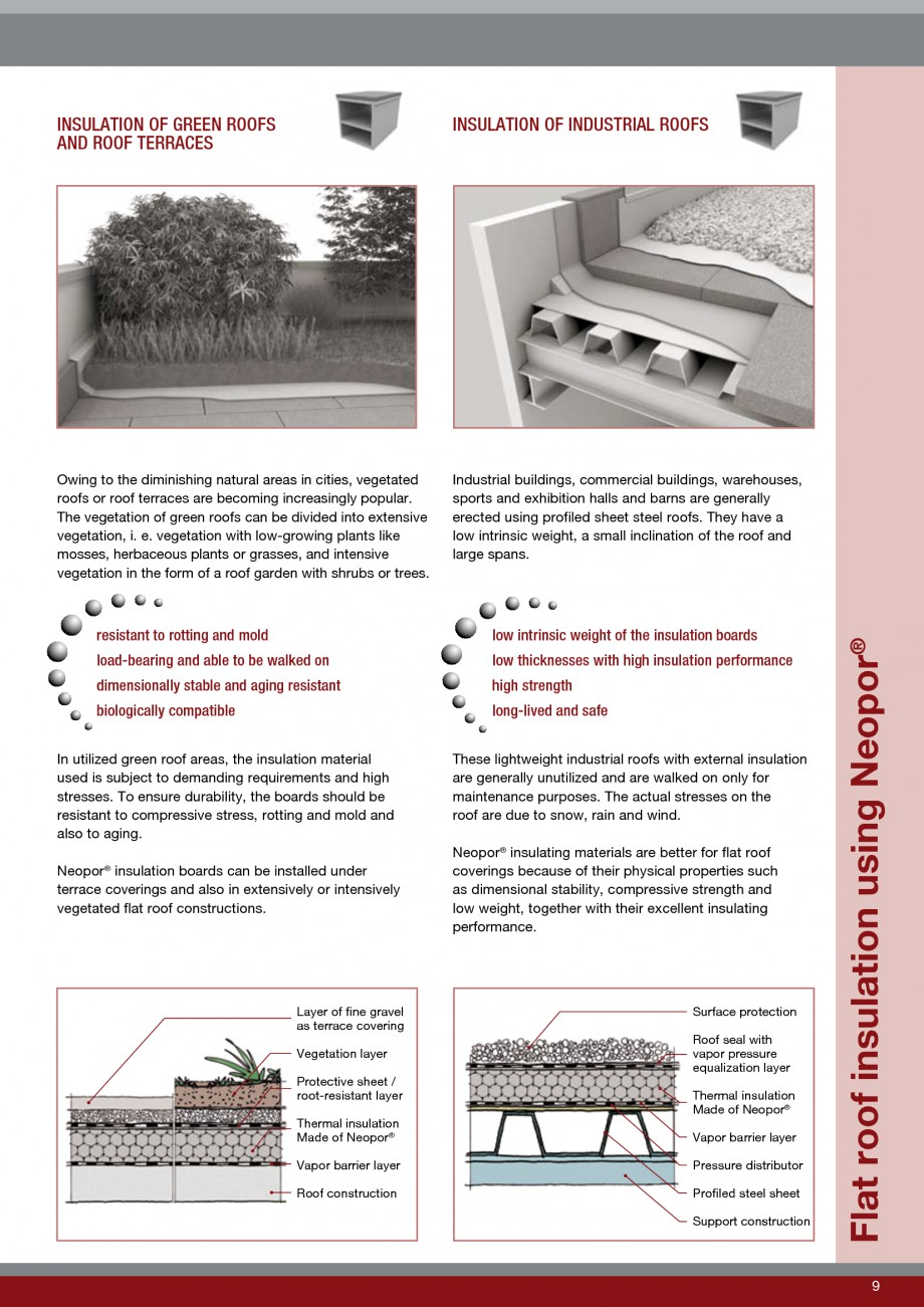 Pagina 9 - Polistiren expandat - Roof Insulation BASF Neopor Catalog, brosura Engleza e of very...
