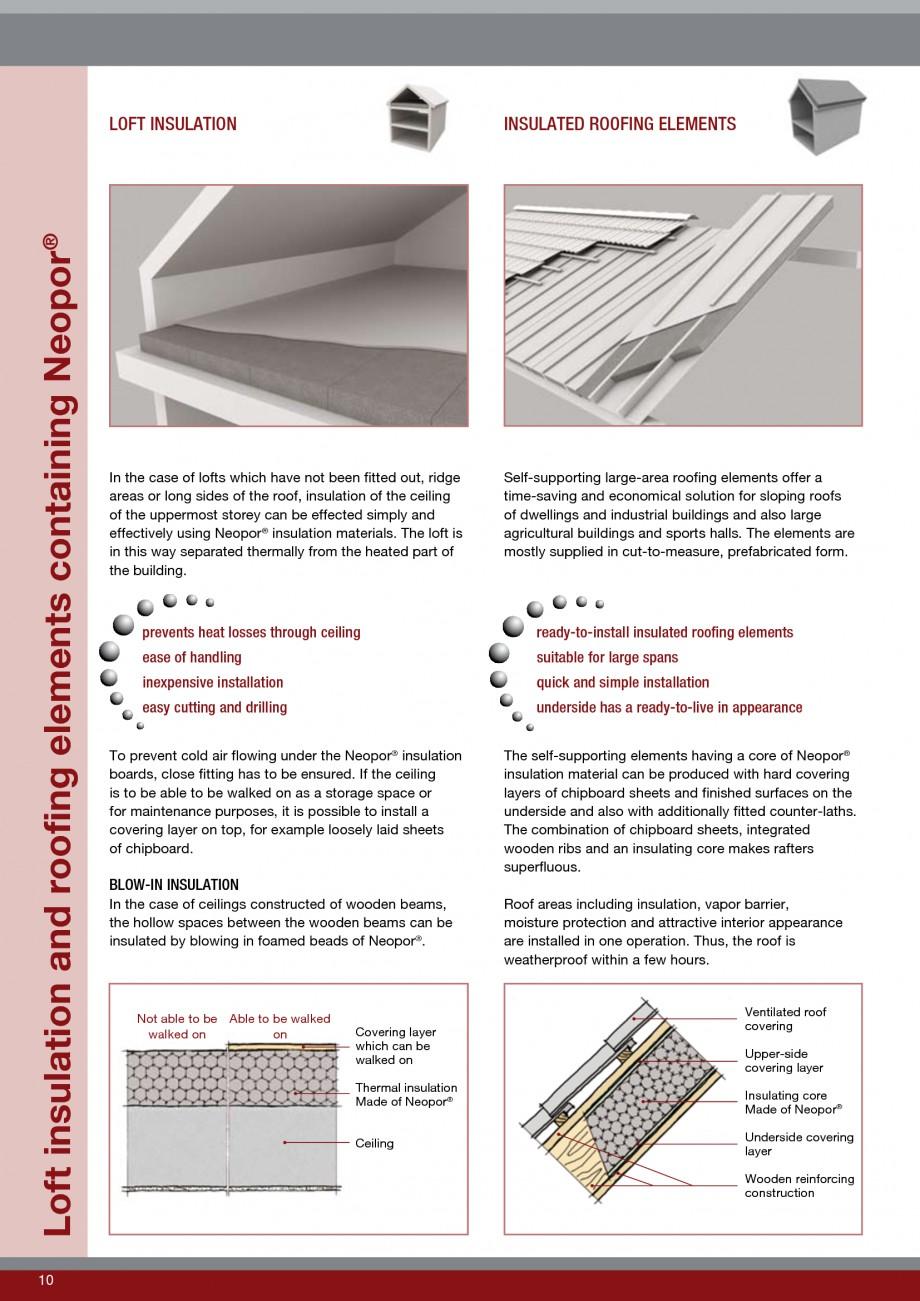 Pagina 10 - Polistiren expandat - Roof Insulation BASF Neopor Catalog, brosura Engleza oof...