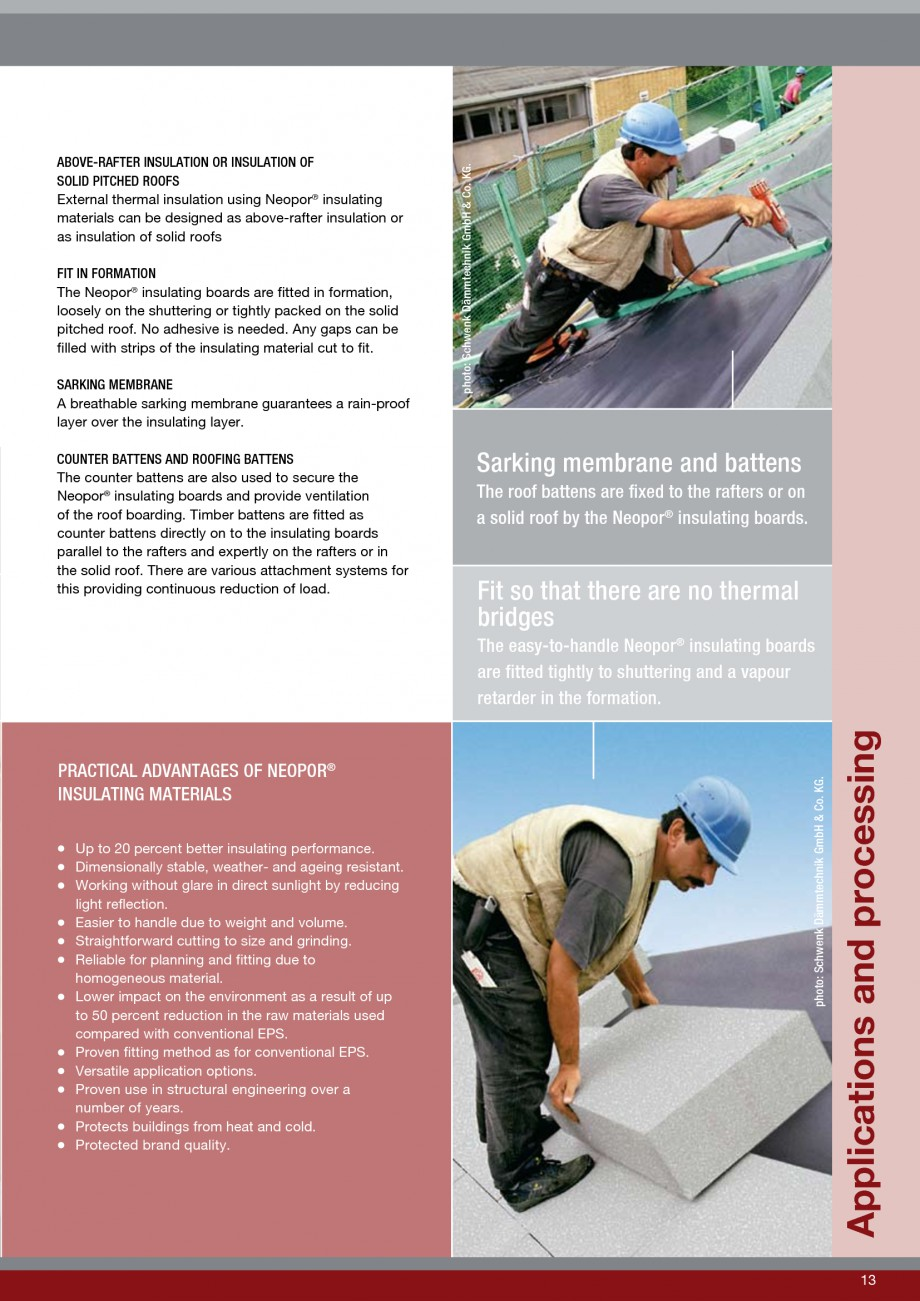 Pagina 13 - Polistiren expandat - Roof Insulation BASF Neopor Catalog, brosura Engleza at the same...