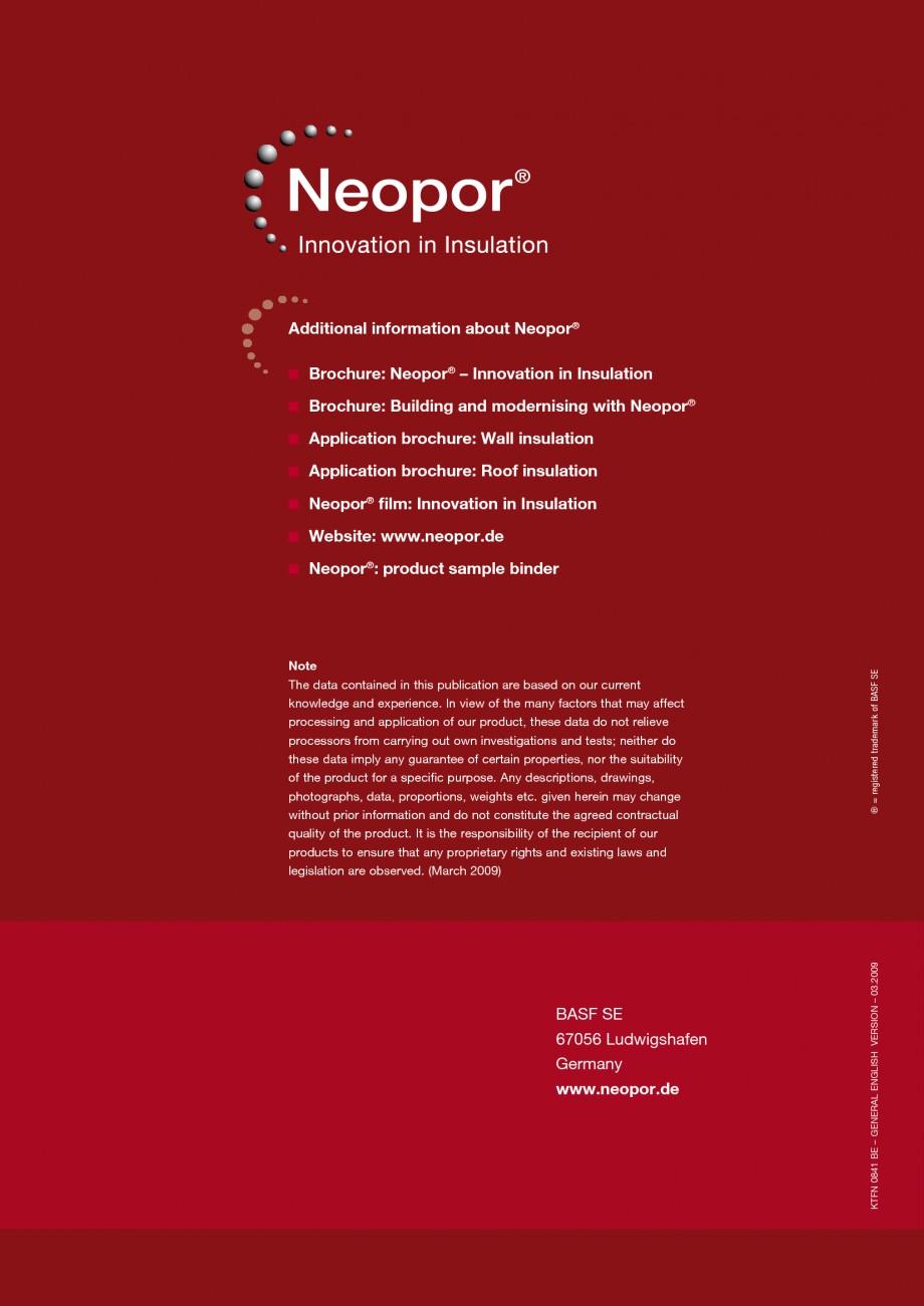 Pagina 16 - Polistiren expandat - Roof Insulation BASF Neopor Catalog, brosura Engleza ay separated ...