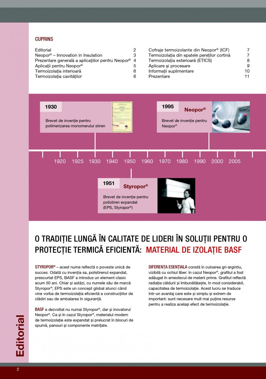 Pagina 2 - Polistiren expandat pentru termoizolarea peretilor BASF Neopor Catalog, brosura Romana ...