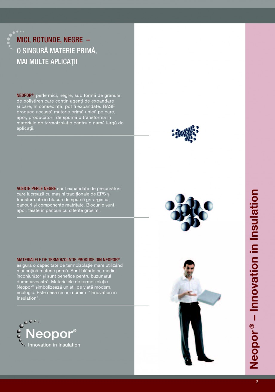 Pagina 3 - Polistiren expandat pentru termoizolarea peretilor BASF Neopor Catalog, brosura Romana � ...