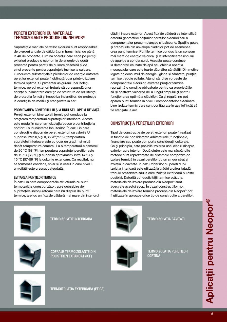 Pagina 5 - Polistiren expandat pentru termoizolarea peretilor BASF Neopor Catalog, brosura Romana...