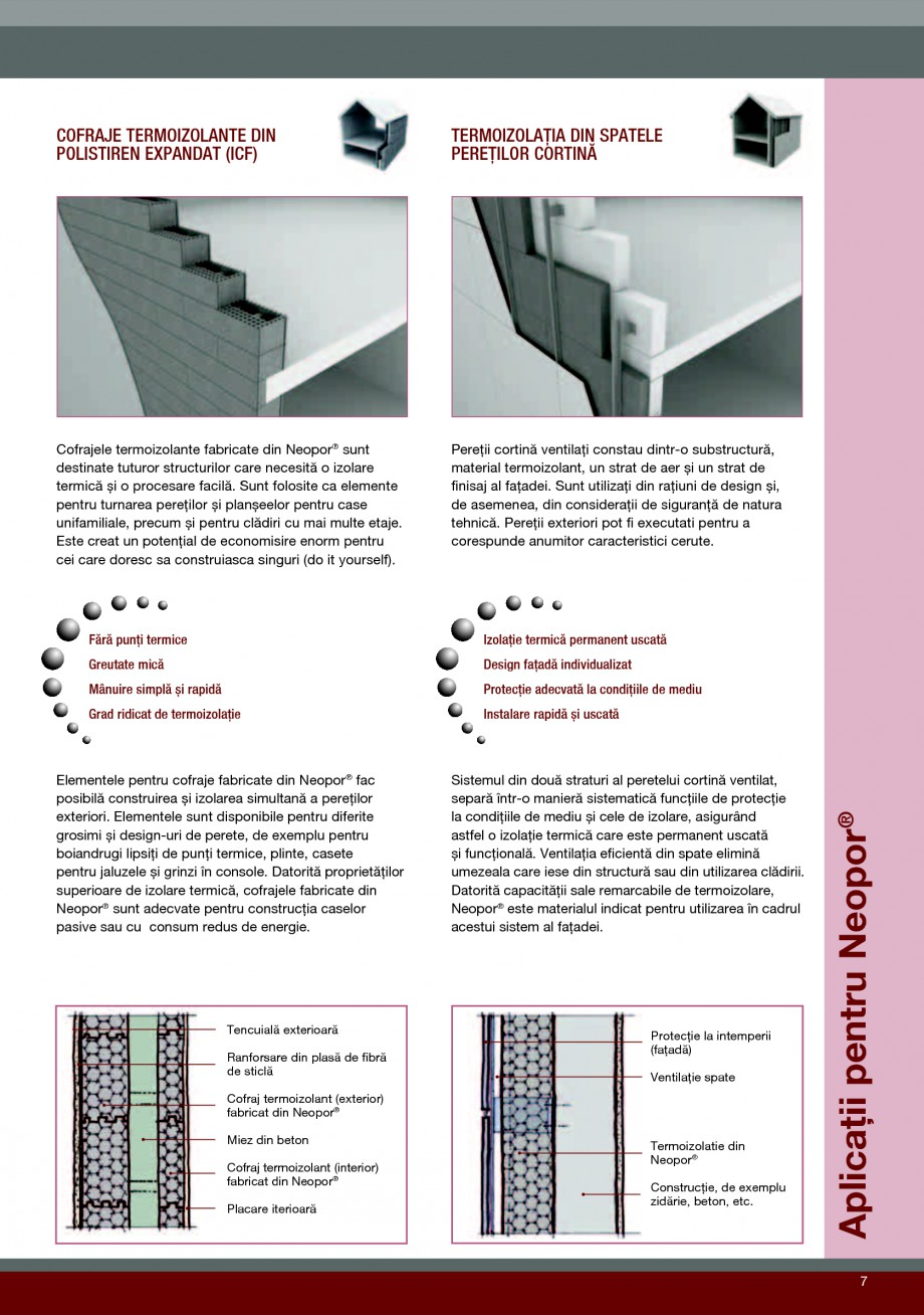 Pagina 7 - Polistiren expandat pentru termoizolarea peretilor BASF Neopor Catalog, brosura Romana ...