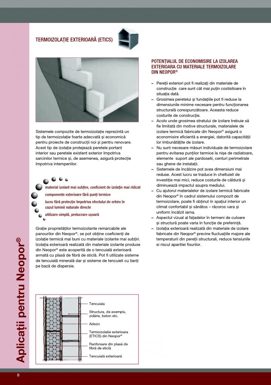 Pagina 8 - Polistiren expandat pentru termoizolarea peretilor BASF Neopor Catalog, brosura Romana...