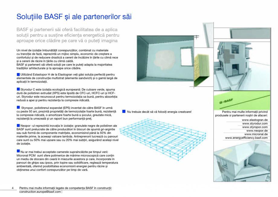 Pagina 6 - Polistiren expandat - Eficienta energetica BASF Neopor Catalog, brosura Romana ucă...