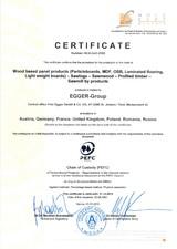 Certificat PEFC Austria EGGER