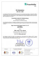 Certificat de atestare CE EGGER