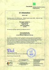 Certificat de atestare - E1 EGGER
