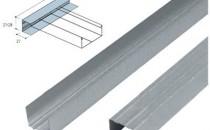 Profile metalice, accesorii pentru pereti gipscarton Profile perimetrale in forma de U,  destinate plafoanelor false si peretilor din gips-carton, sunt elemente  metalice realizate din tabla zincata, prin laminare la rece, cu grosimea  de 0,5 mm sau 0,6 mm. Profile portante tip CD, realizate din tabla zincata, prin laminare la rece, cu  grosimea de 0,5 mm sau 0,6 mm, 3000x250x400 sunt profilele de sustinere  ale plafoanelor false, de ele fiind fixate placile din gips-carton.