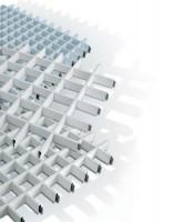 """Tavane suspendate casetate PROMETAL® PSN este un sistem de plafon metalic casetat, format din panouri de 600 x  600 mm, montate prin clipsare de structura de sustinere si indicat  pentru orice tip de locatie. Panourile perforate, combinate cu un  filtru fonic, confera o absorbtie marita a sunetului asigurand in acest  fel o acustica ambientala optima. PROMETAL® PSV este un sistem de plafon metalic casetat format din panouri modulare de  600 x 600 mm, ce se monteaza pe o structura la vedere, de tip """"T""""."""