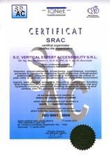 Certificat SRAC - ISO 9001