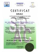 Certificat SRAC - ISO 14001