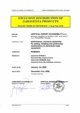 Distributie si reprezentare exclusiva - GARAVENTA LIFT