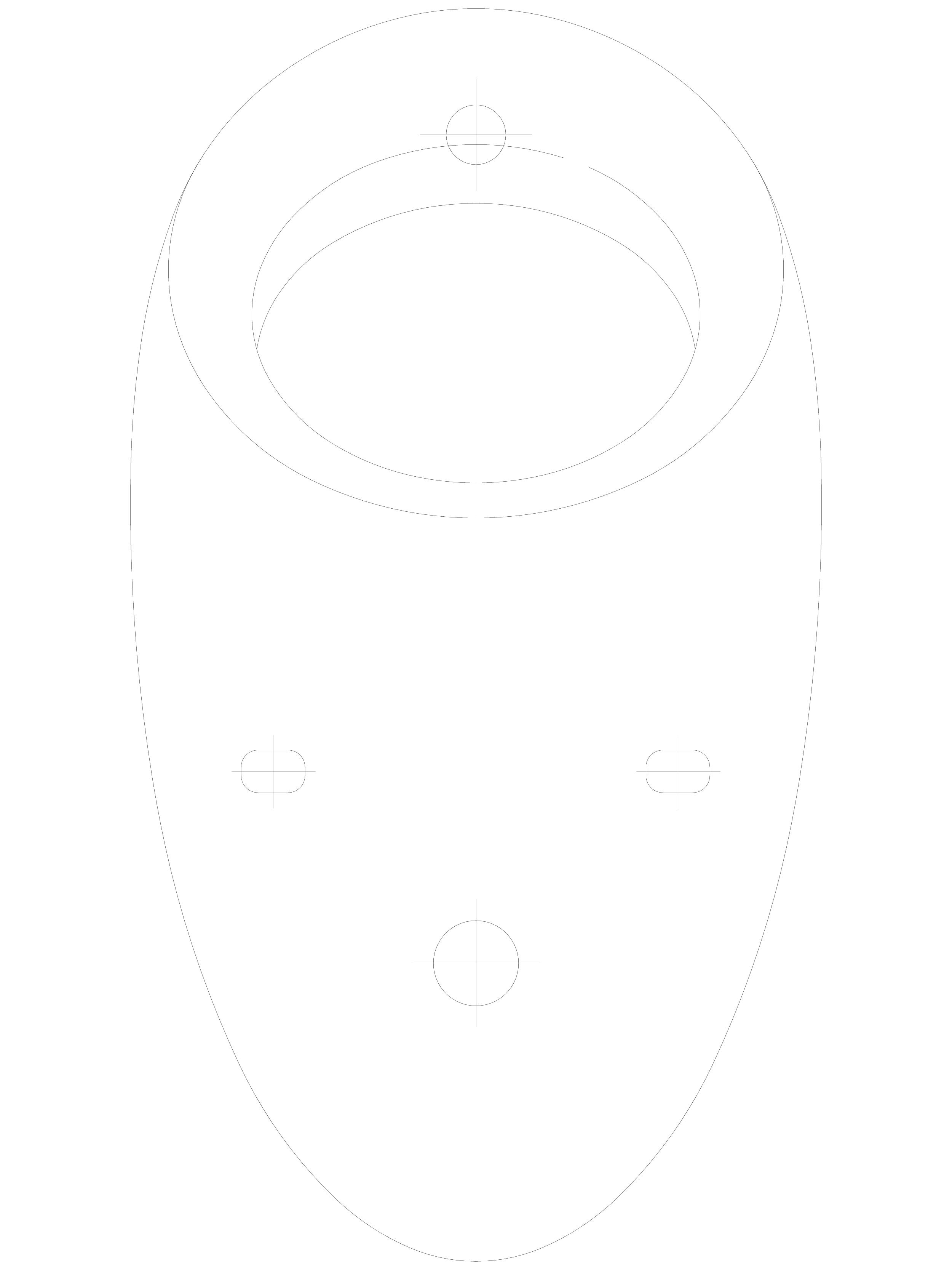 Pagina 1 - CAD-DWG Pisoar casnic ALESSI cu sistem de spalare radar integrat SANELA Detaliu de produs...