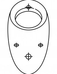 Pisoar casnic ALESSI cu sistem de spalare radar integrat