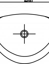 Pisoar DOMINO cu sistem de spalare automat integrat 2D