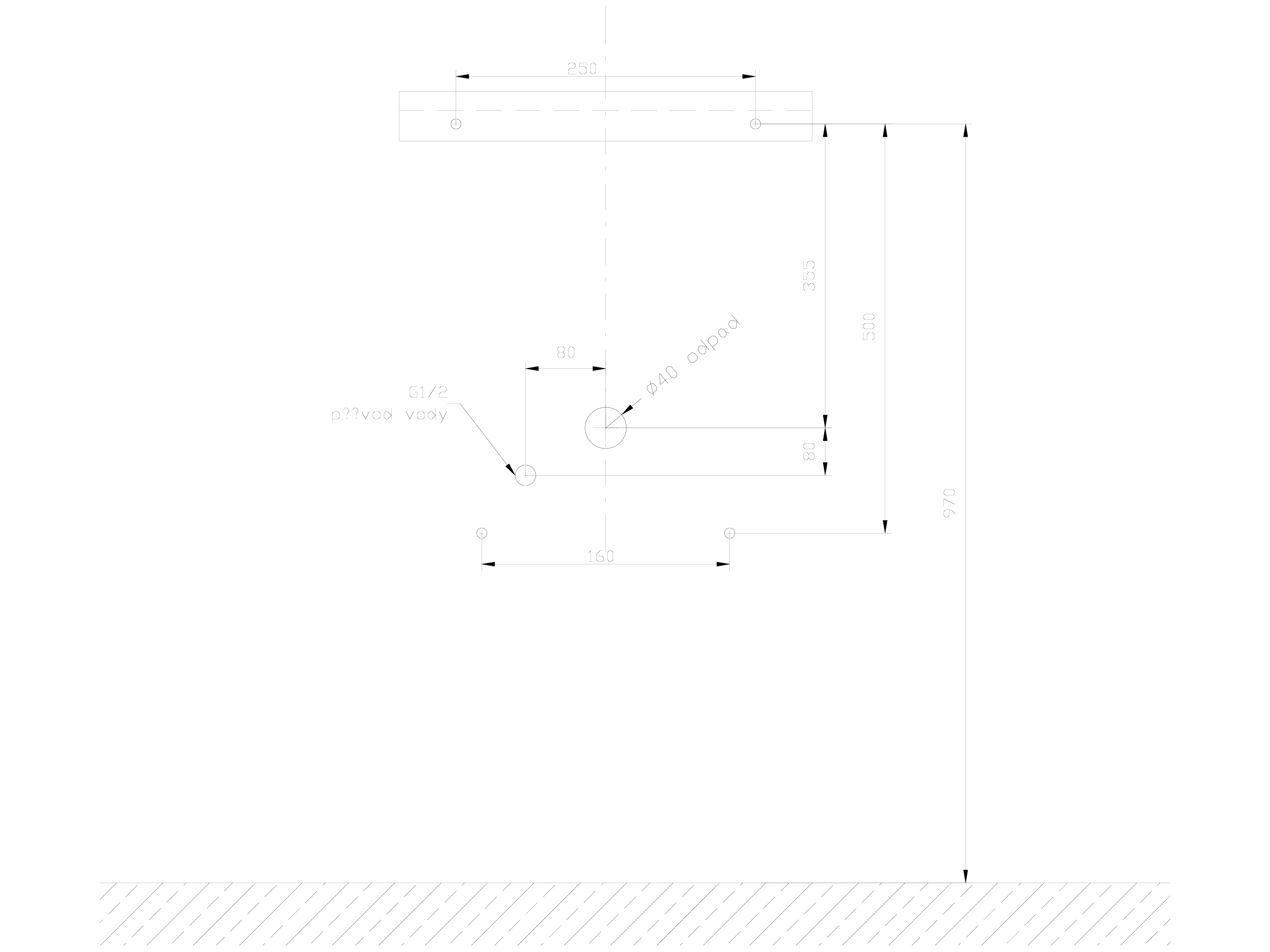 Pagina 1 - CAD-DWG Urinar din otel inox cu ventil de spalare si sifon SANELA Detaliu de montaj SLPN ...
