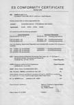 Certificat de conformitate - Otel-inox SANELA