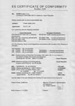 Certificat de conformitate - Transformatoare SANELA