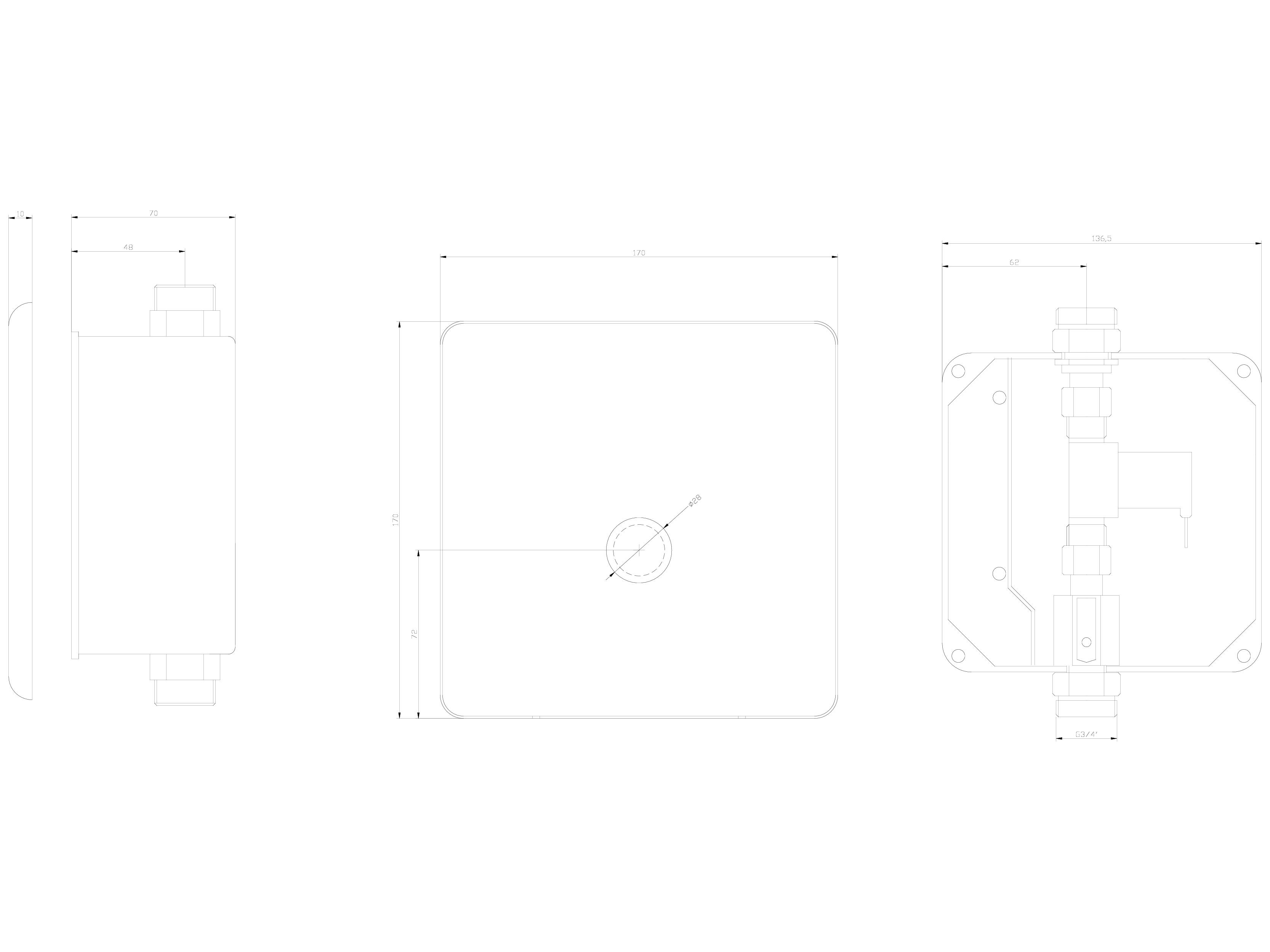 Pagina 1 - CAD-DWG Baterie de dus automata cu piezo-control SANELA Detaliu de produs SLS 01P