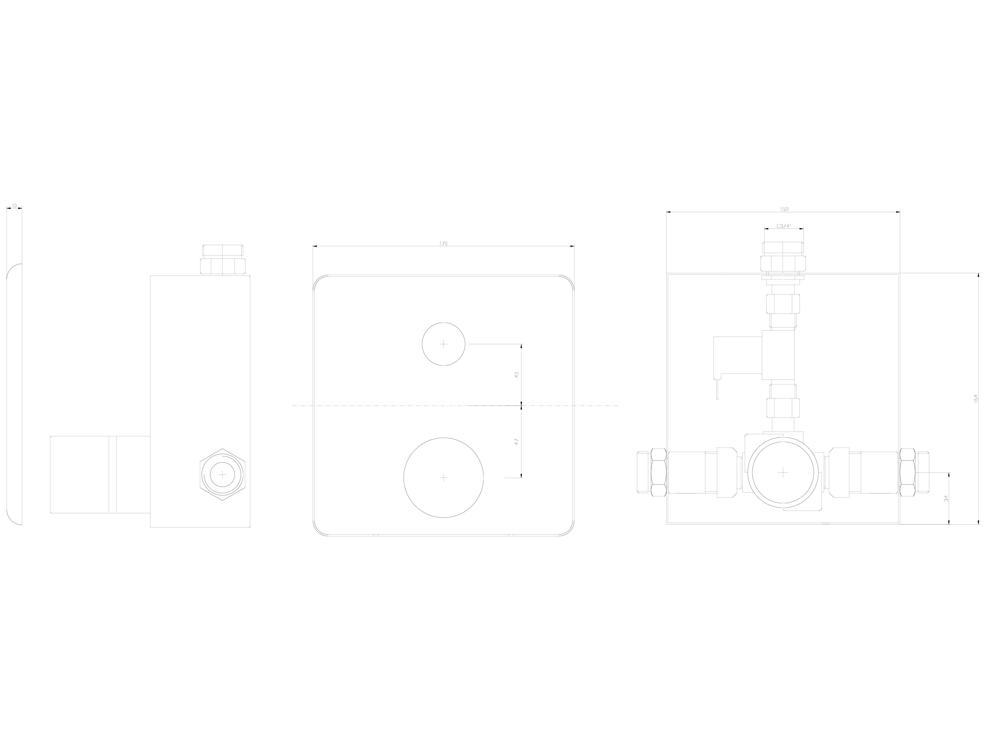 Pagina 1 - CAD-DWG Baterie de dus automata cu piezo-control SANELA Detaliu de produs SLS 02P