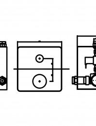 Baterie de dus automata cu piezo-control