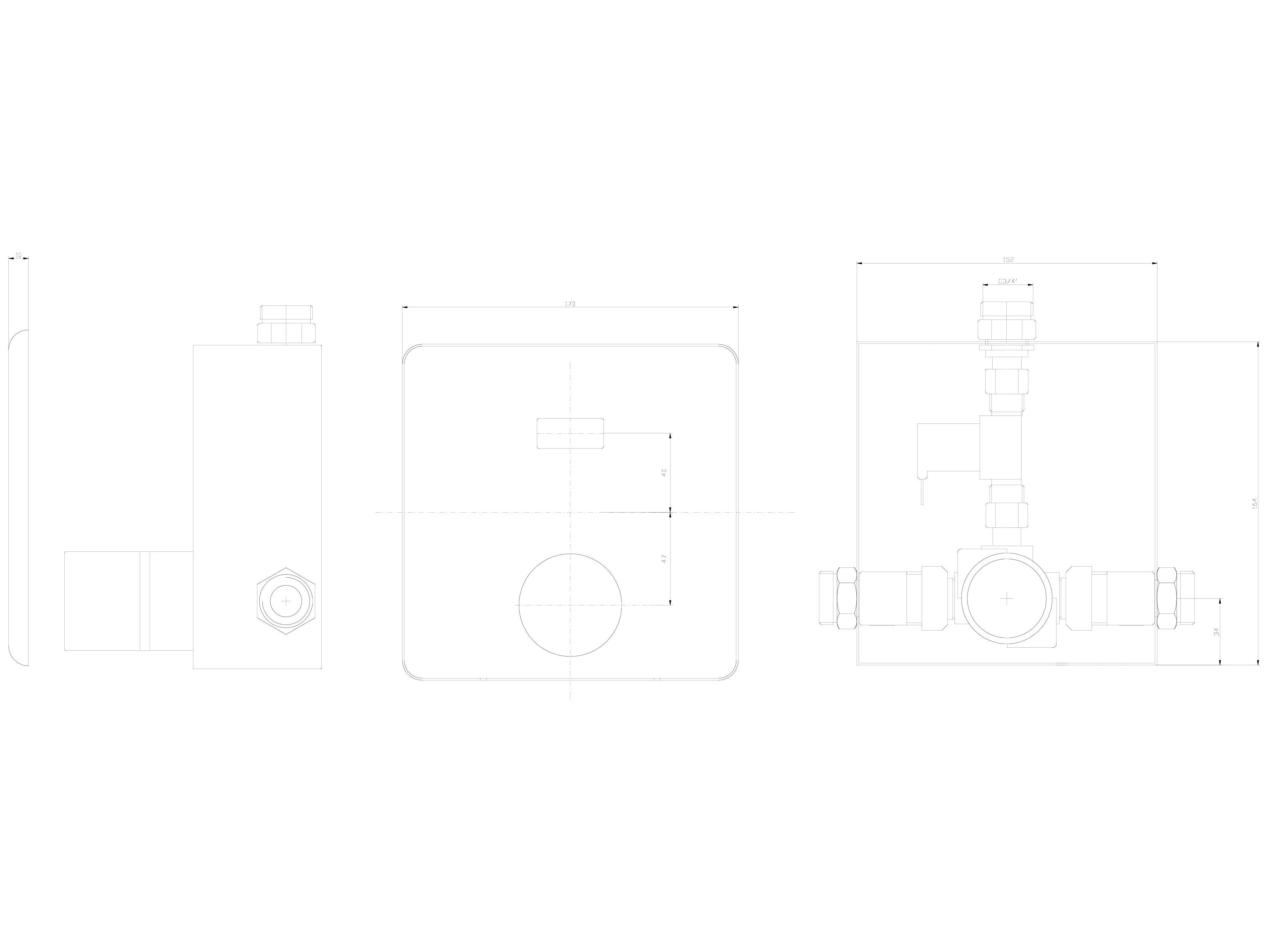 Pagina 1 - CAD-DWG Baterie de dus automata cu senzor infra-rosu SANELA Detaliu de produs SLS 02