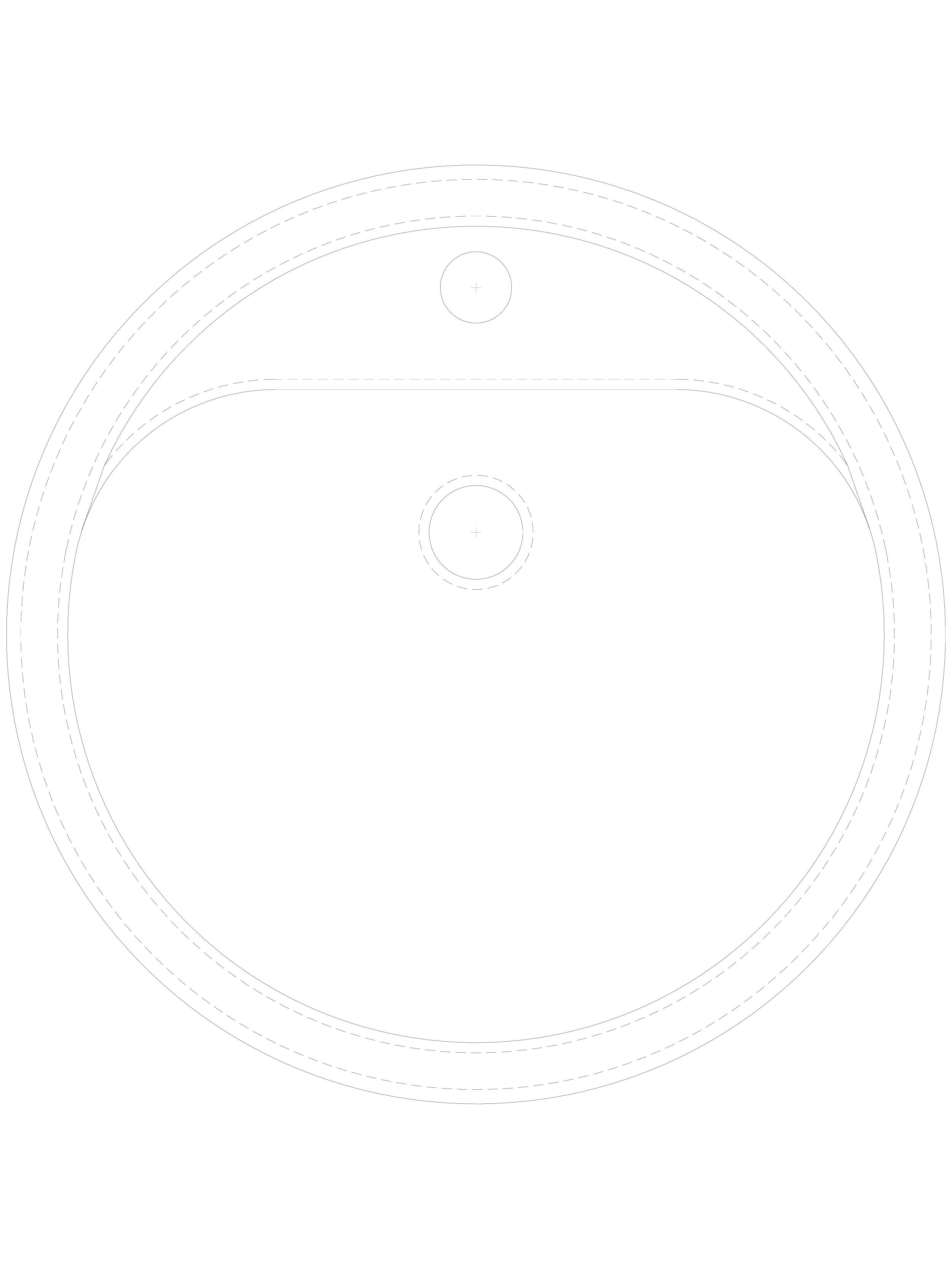 Pagina 1 - CAD-DWG Lavoar circular din inox de incastrat in blat SANELA Detaliu de produs SLUN 28