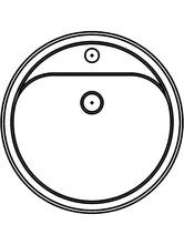 Lavoar circular din inox de incastrat in blat SANELA