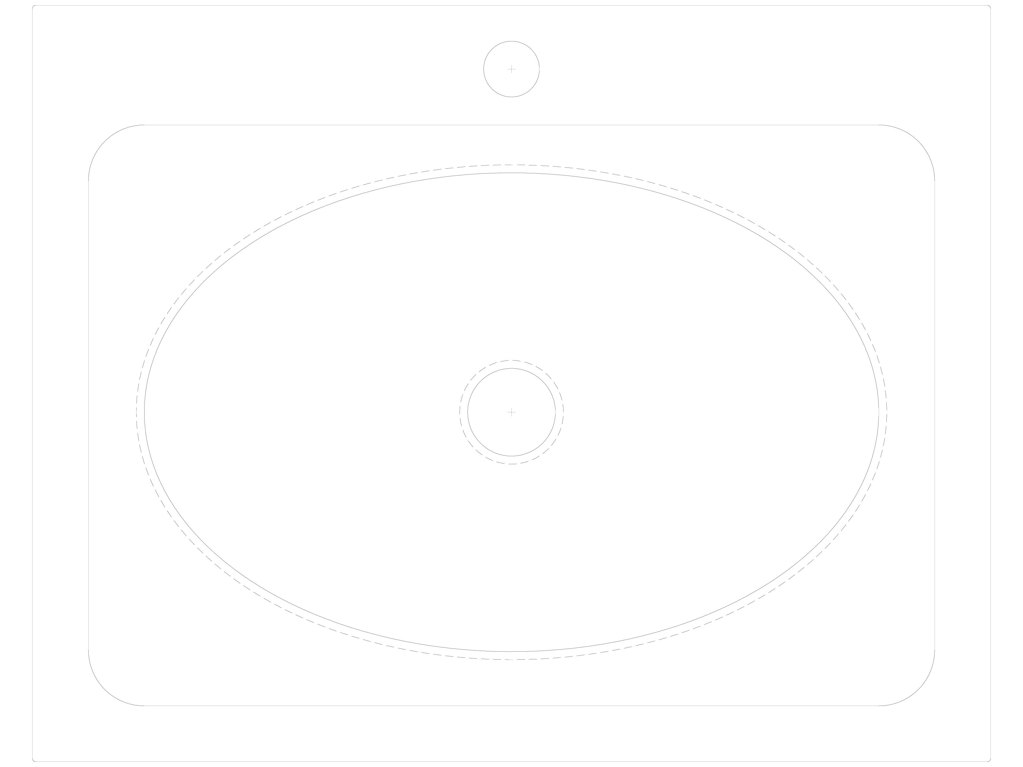 Pagina 1 - CAD-DWG Lavoar din otel inox cu gaura pentru baterie SANELA Detaliu de produs SLUN 36
