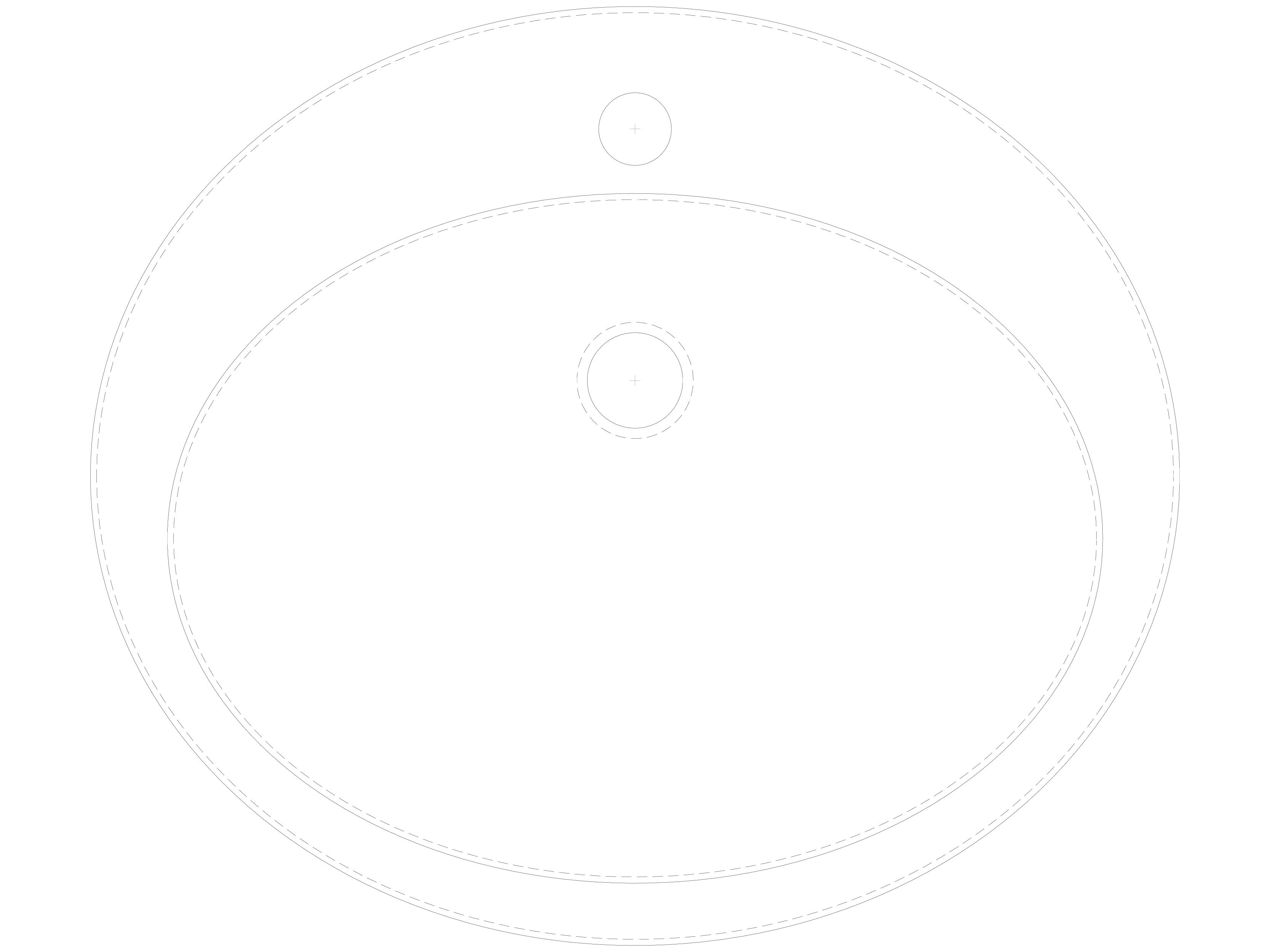 Pagina 1 - CAD-DWG Lavoar oval din inox de incastrat in blat SANELA Detaliu de produs SLUN 32