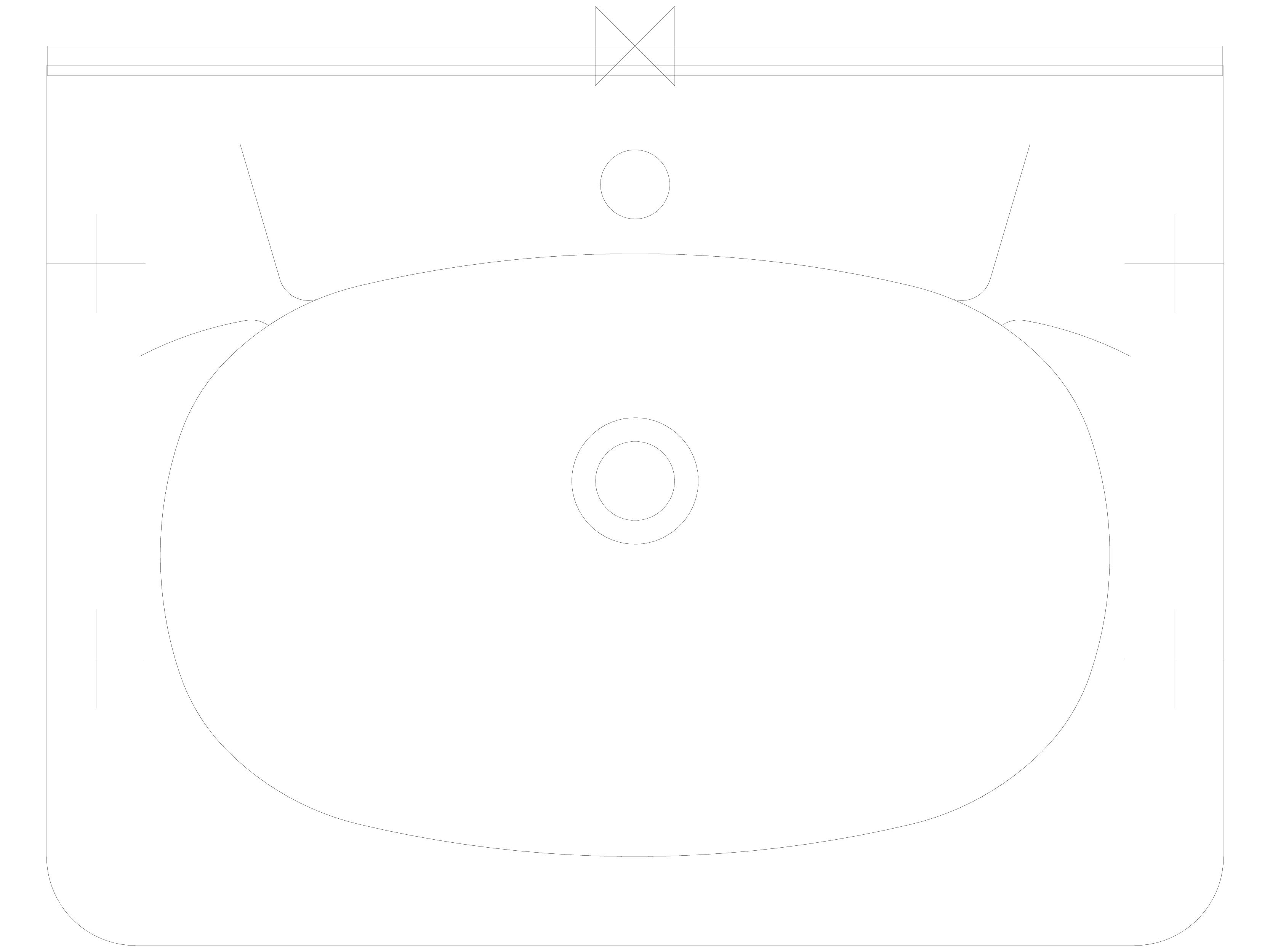 Pagina 1 - CAD-DWG Lavoare din otel inox cu gaura pentru baterie si spatar SANELA Detaliu de produs ...