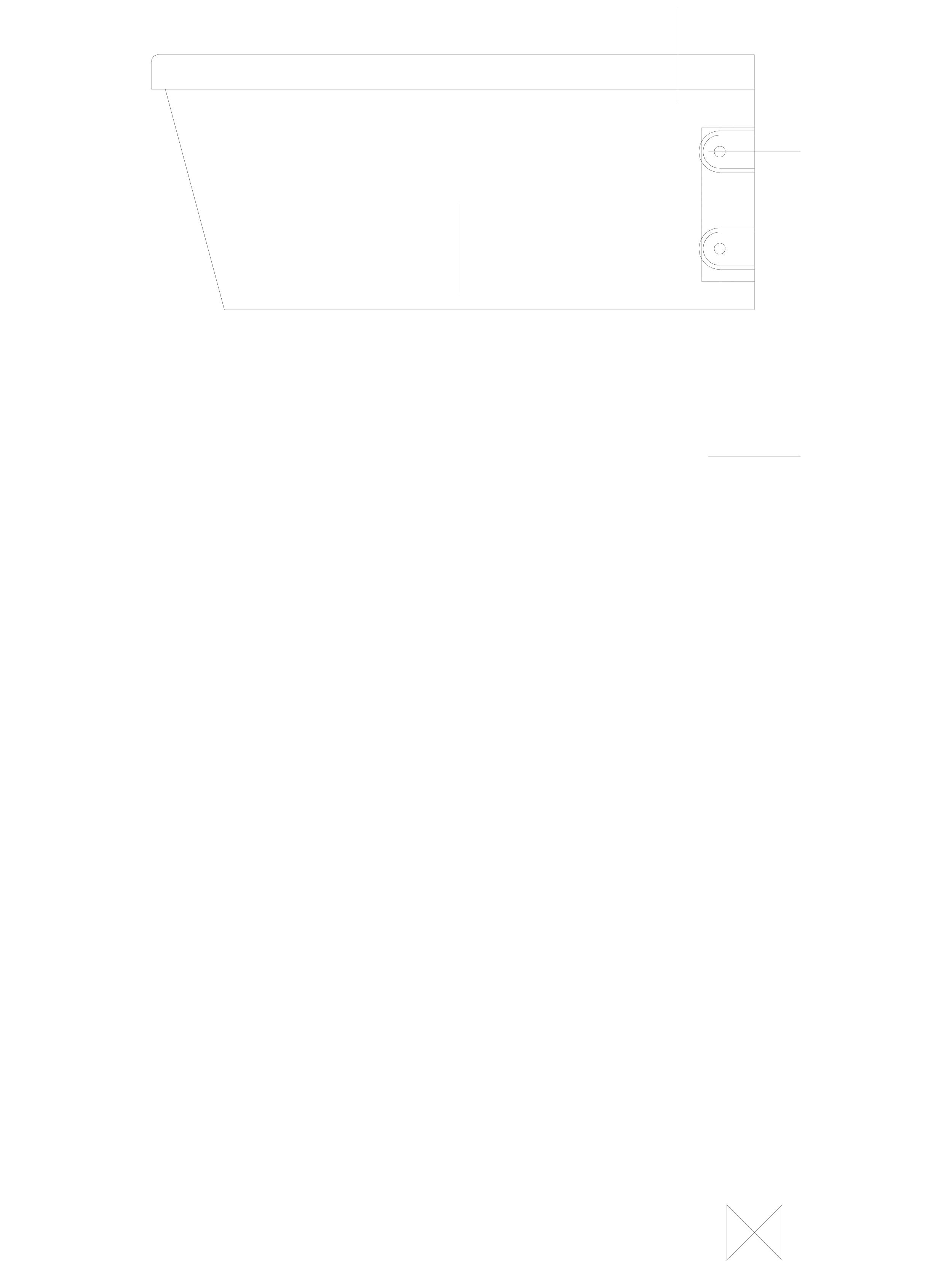 Pagina 1 - CAD-DWG Lavoare din otel inox cu gaura pentru baterie - z boku SANELA Detaliu de produs...